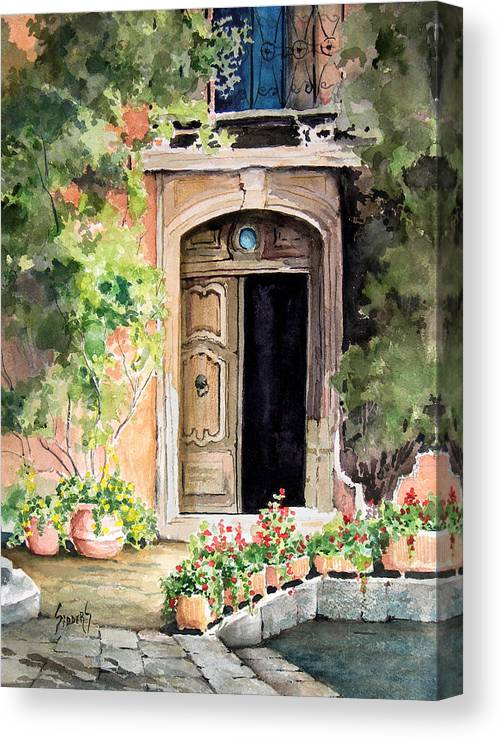 Door Canvas Print featuring the painting The Open Door by Sam Sidders