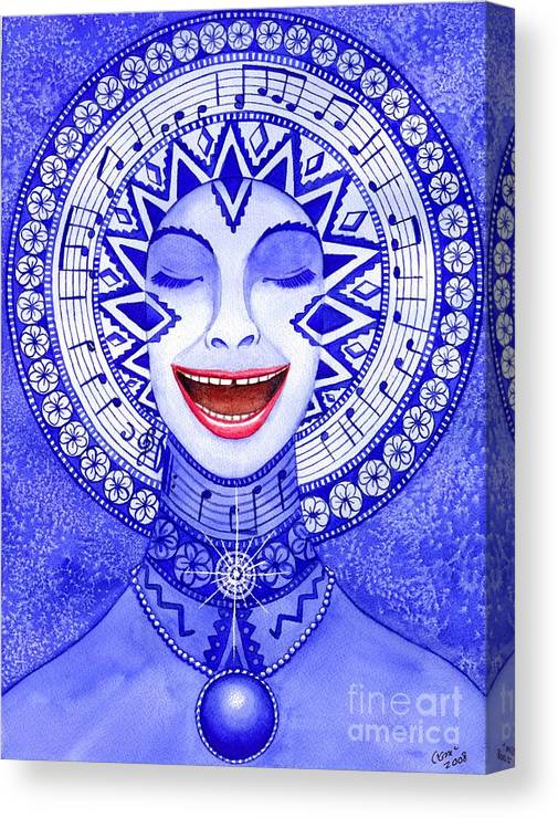 Chakra Canvas Print featuring the painting Throat Chakra by Catherine G McElroy