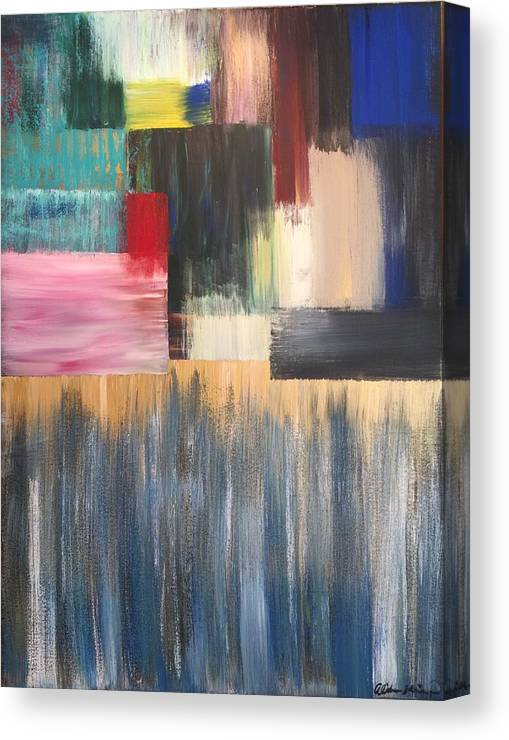 Abstract Canvas Print featuring the painting Vital Spark by Alisha Anglin