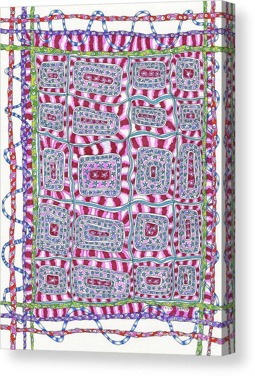 Weaving Canvas Print featuring the painting Weaving by Rheba McMichael