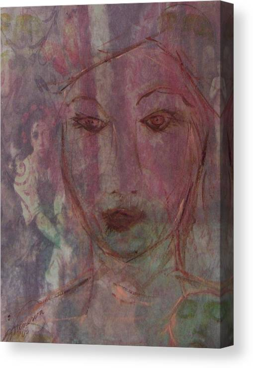 Dream Canvas Print featuring the painting Wistful Dreams by Cathy Minerva