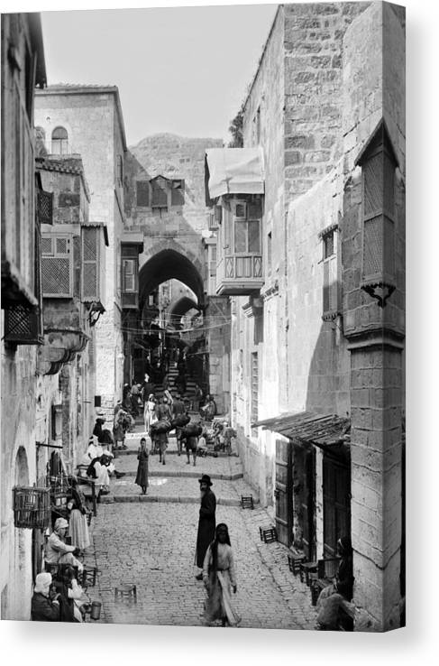 Old City Canvas Print featuring the photograph Jerusalem Old City Street by Munir Alawi