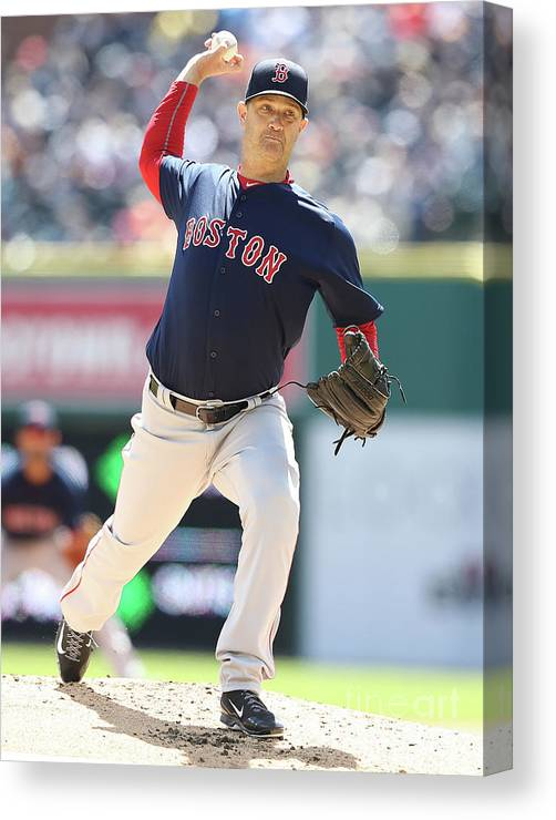 People Canvas Print featuring the photograph Boston Red Sox V Detroit Tigers 10 by Leon Halip