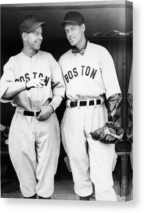 Plan Canvas Print featuring the photograph Rick And Wes Ferrell Of The Red Sox by Fpg