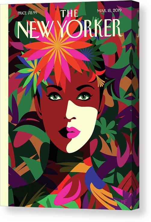 Spring To Mind Canvas Print featuring the drawing Spring To Mind by Malika Favre