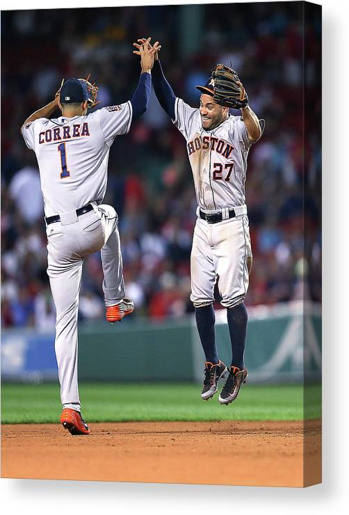 People Canvas Print featuring the photograph Carlos Correa by Jim Rogash