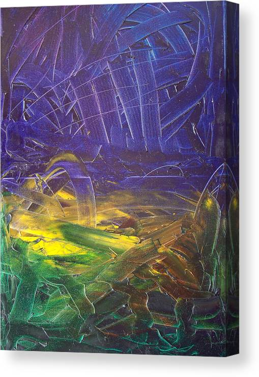 Painting Canvas Print featuring the painting Forest. Part2 by Sergey Bezhinets