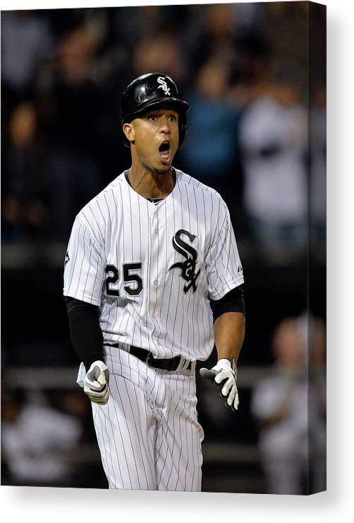 Ninth Inning Canvas Print featuring the photograph Moises Sierra by Brian Kersey