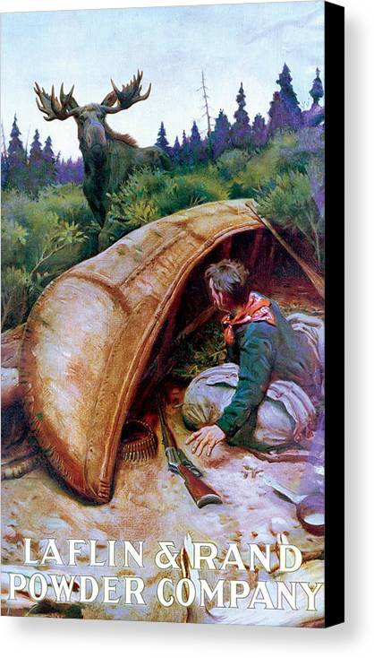 Moose Canvas Print featuring the painting Wake Up Call by Phillip R Goodwin