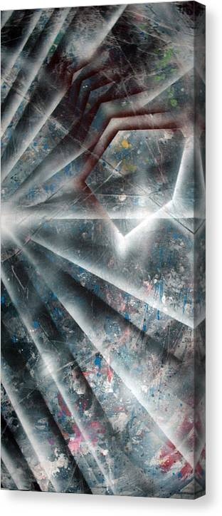 Paint Canvas Print featuring the painting Emergence by Leigh Odom