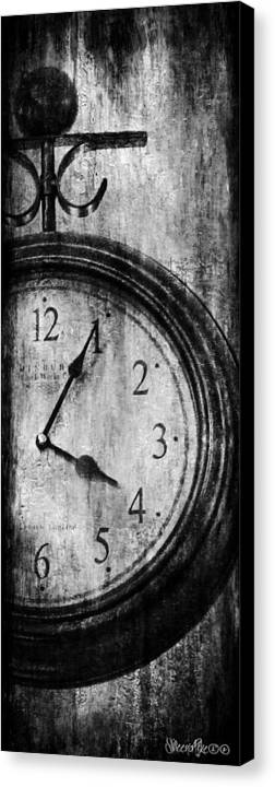 Clock Canvas Print featuring the digital art Time by Sheena Pike