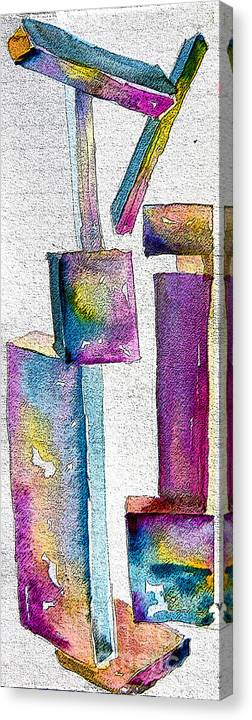Abstraction Canvas Print featuring the painting Abstraction by Mindy Newman
