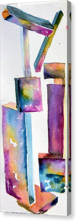 Sculpture Canvas Print featuring the painting Watercolor Sculpture by Mindy Newman