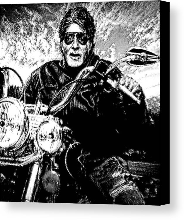 Amitabh Bachchan Canvas Print featuring the painting Amitabh Bachchan - God Of Entertainment by Piety Dsilva