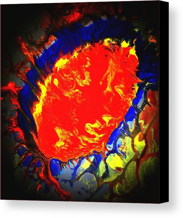 Colorful Canvas Print featuring the painting Rentry by Dina Sierra