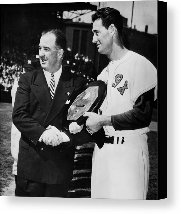 1950s Candids Canvas Print featuring the photograph Baseball Commissioner Albert B by Everett