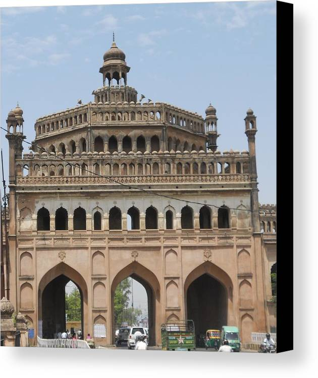 Canvas Print featuring the pyrography Roman Gate by Ashish Jha