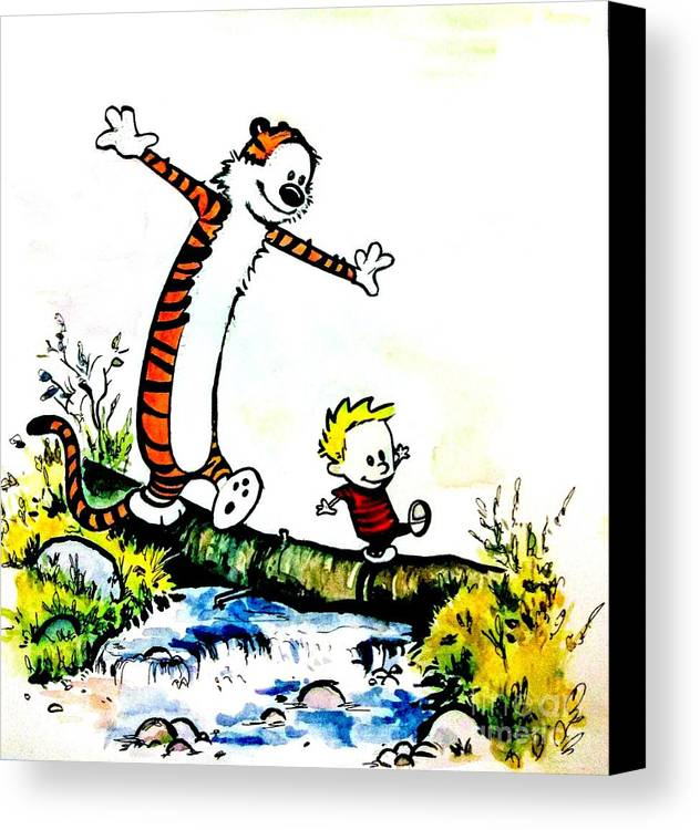 Calvin And Hobbes Canvas Print / Canvas Art by Chapi Dee