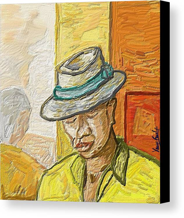 Figurative Canvas Print featuring the painting Habana by Xavier Ferrer
