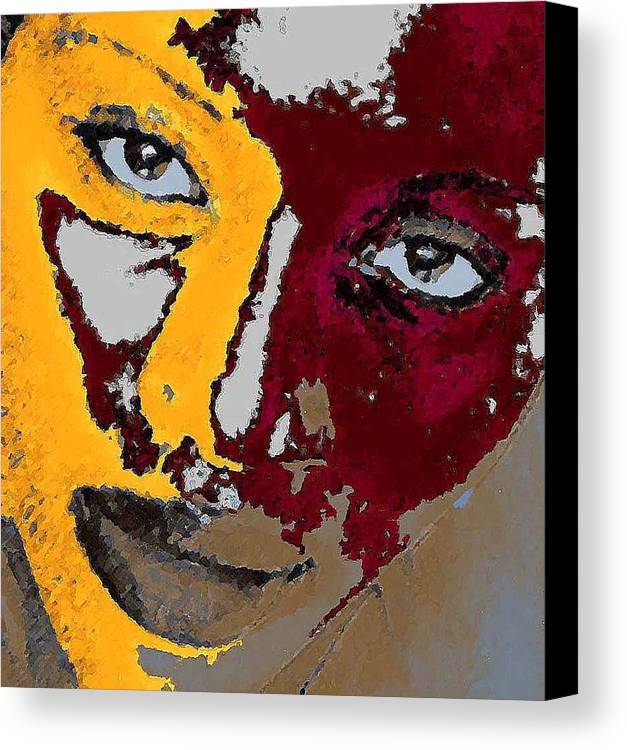 Portrait Canvas Print featuring the photograph Painted Face by LeeAnn Alexander