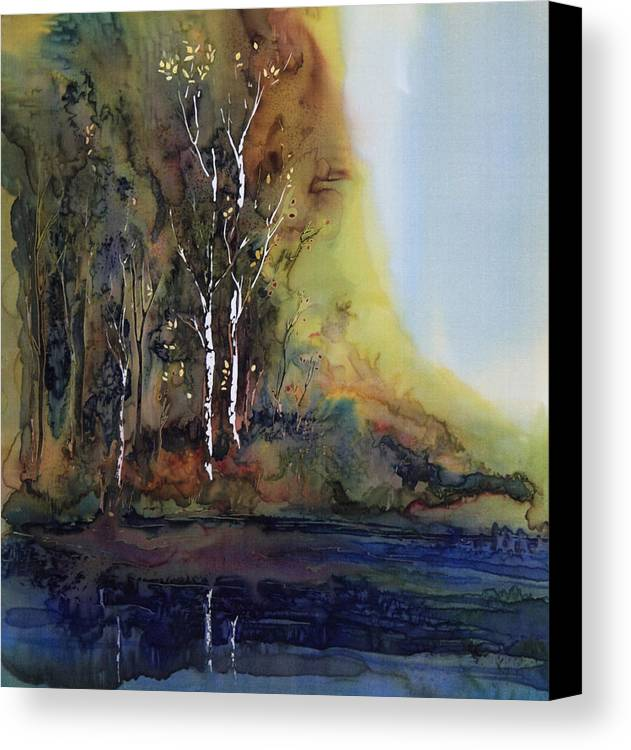 Batik Canvas Print featuring the tapestry - textile Reflections by Carolyn Doe