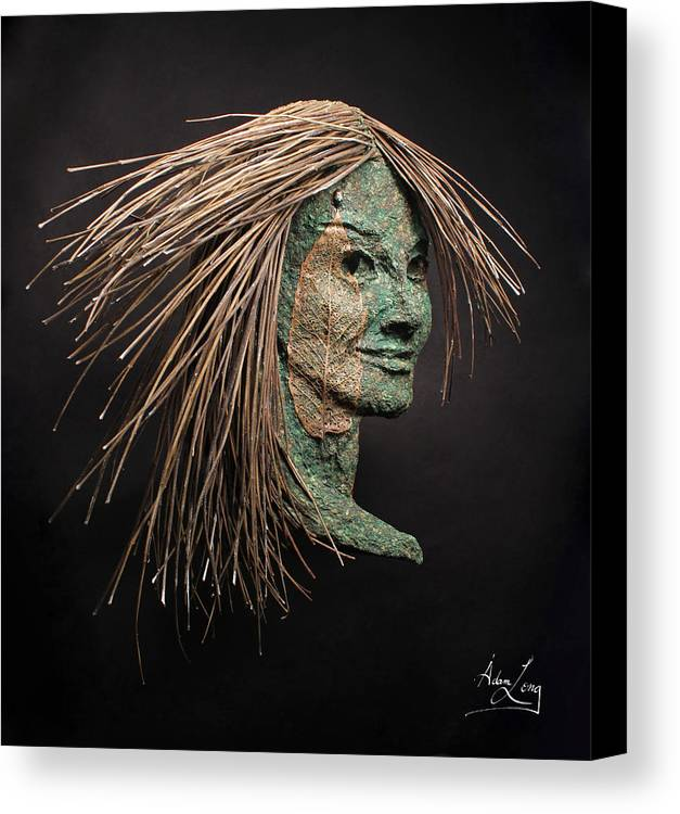 Face Canvas Print featuring the sculpture Revealed by Adam Long