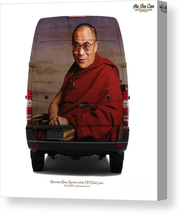 Travel Canvas Print featuring the photograph Sprinter Dalai Lama by Art Faul