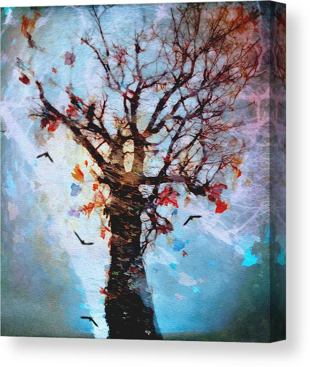Trees Canvas Print featuring the photograph #words Like Confetti by Graceindirain Imagery