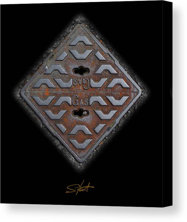 Cast Iron Canvas Print featuring the photograph Iron Diamond by Charles Stuart