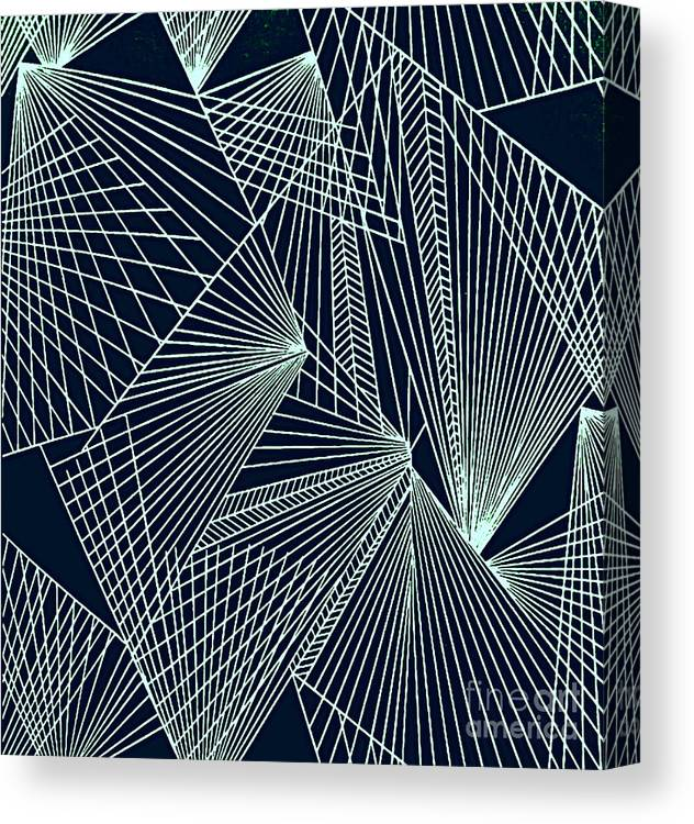 Geometric Patterns Canvas Print featuring the painting Geometric Pattern 1-colour-6 by Katerina Stamatelos