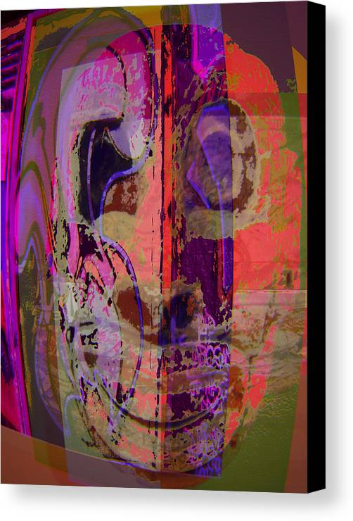 Mask Canvas Print featuring the mixed media Mask by Noredin Morgan