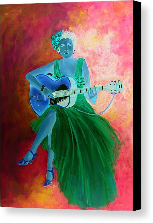 Blues Singers Canvas Print featuring the painting Memphis Minnie by Kay Robinson