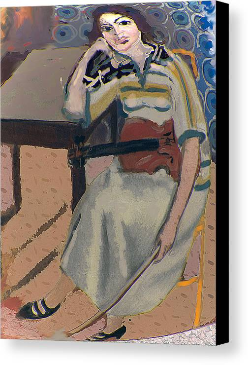 Homage To Matisse Canvas Print featuring the painting Silent Note by Noredin Morgan