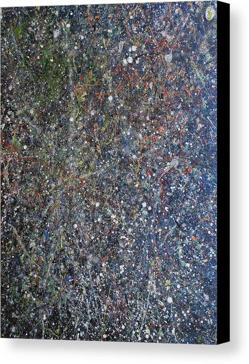 Space Canvas Print featuring the painting The Empyreal Deep by Steven Dean