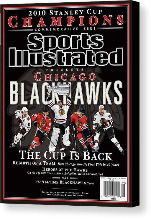 Playoffs Canvas Print featuring the photograph 2010 Stanley Cup Finals Sports Illustrated Cover by Sports Illustrated