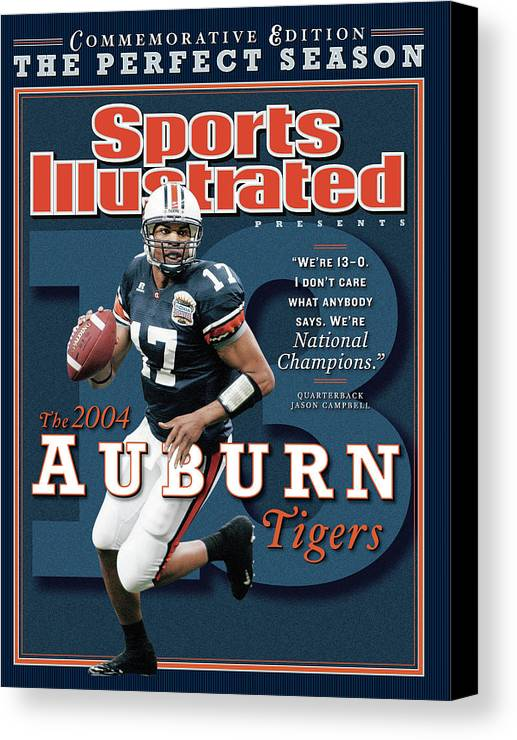 Auburn University Canvas Print featuring the photograph Auburn University Qb Jason Campbell, 2004 Ncaa Perfect Sports Illustrated Cover by Sports Illustrated