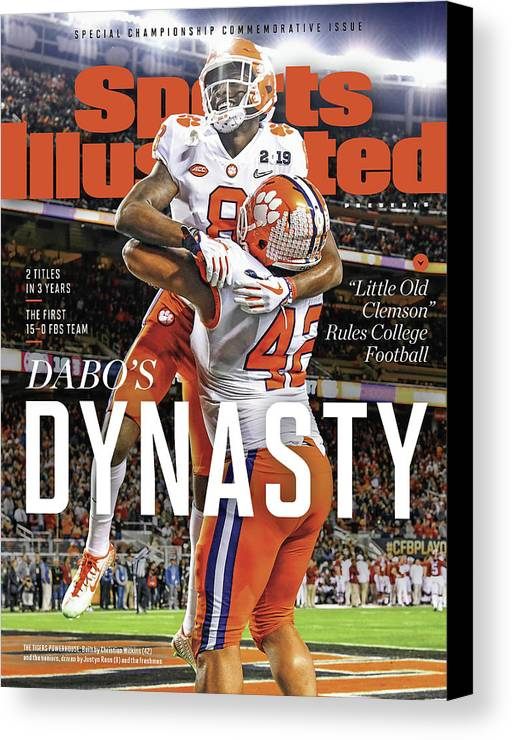 Championship Canvas Print featuring the photograph Dabos Dynasty Clemson University, 2019 Cfp National Sports Illustrated Cover by Sports Illustrated