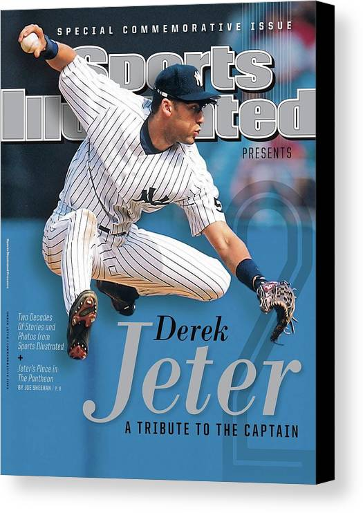 American League Baseball Canvas Print featuring the photograph Derek Jeter A Tribute To The Captain Sports Illustrated Cover by Sports Illustrated