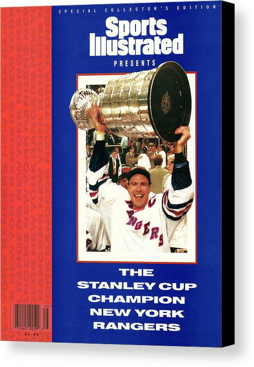 National Hockey League Canvas Print featuring the photograph New York Rangers Mark Messier, 1994 Nhl Stanley Cup Finals Sports Illustrated Cover by Sports Illustrated