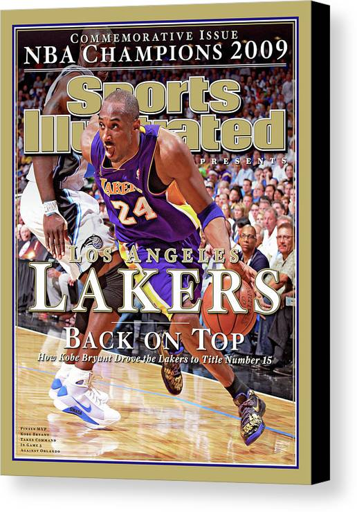 Playoffs Canvas Print featuring the photograph Orlando Magic Vs Los Angeles Lakers, 2009 Nba Finals Sports Illustrated Cover by Sports Illustrated