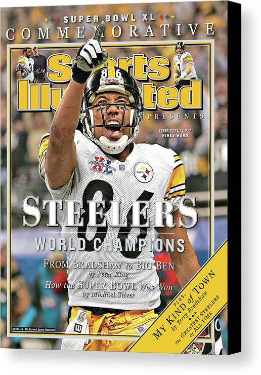 Detroit Canvas Print featuring the photograph Pittsburgh Steelers Super Bowl Xl Champions Sports Illustrated Cover by Sports Illustrated