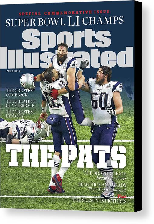 New England Patriots Canvas Print featuring the photograph The Pats Super Bowl Li Champs Sports Illustrated Cover by Sports Illustrated