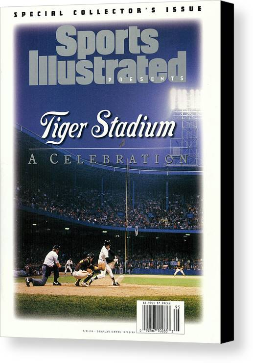 American League Baseball Canvas Print featuring the photograph Tiger Stadium A Celebration Sports Illustrated Cover by Sports Illustrated