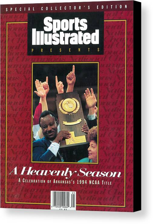 North Carolina Canvas Print featuring the photograph University Of Arkansas Coach Nolan Richardson, 1994 Ncaa Sports Illustrated Cover by Sports Illustrated