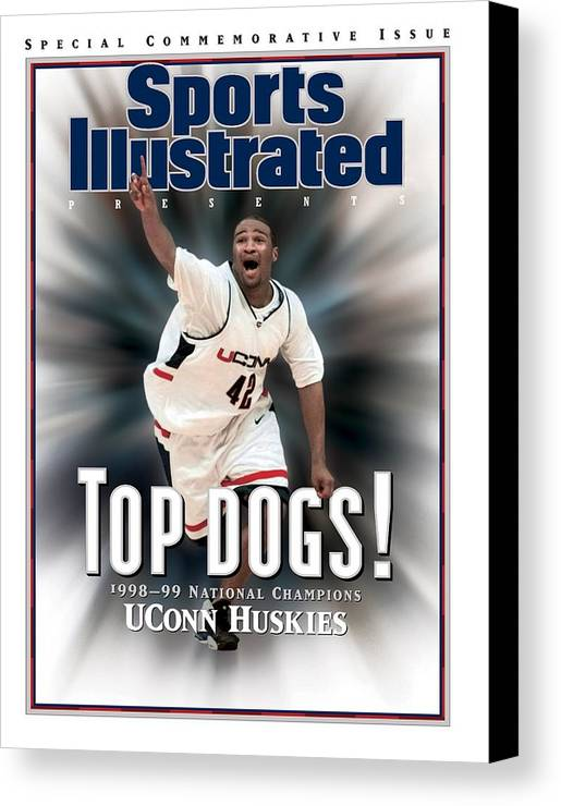 Florida Canvas Print featuring the photograph University Of Connecticut Khalid El-amin, 1999 Ncaa Sports Illustrated Cover by Sports Illustrated