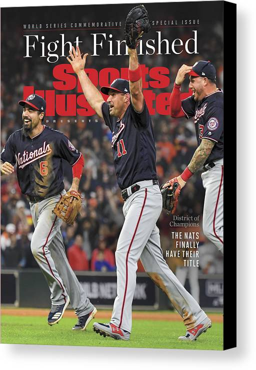 Championship Canvas Print featuring the photograph Washington Nationals, 2019 World Series Champions Sports Illustrated Cover by Sports Illustrated