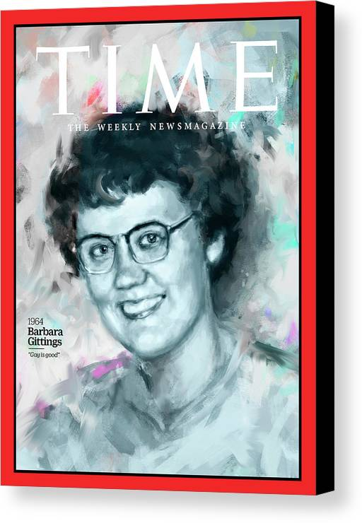 Time Canvas Print featuring the photograph Barbara Gittings, 1964 by Illustration by Ivana Besevic