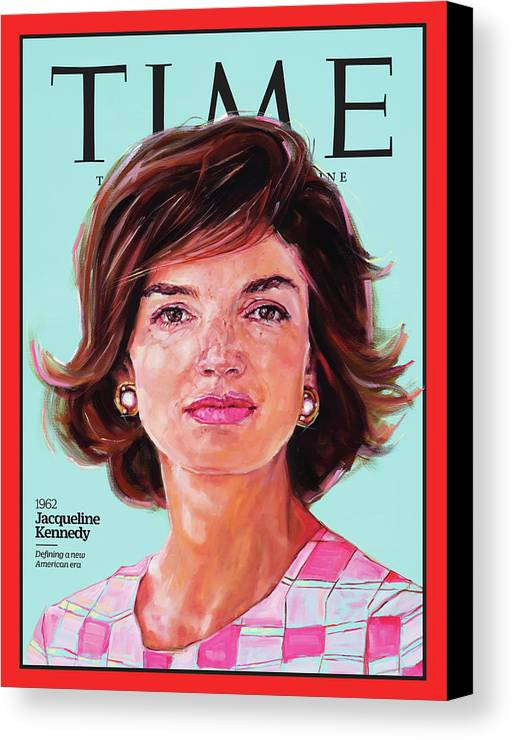 Time Canvas Print featuring the photograph Jacqueline Kennedy, 1962 by Painting by Shana Wilson for TIME
