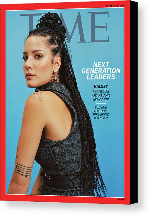 Next Generation Leaders Canvas Print featuring the photograph NGL - Halsey by Photograph by Daria Kobayashi Ritch for TIME