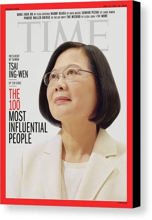 2020 Time 100 Canvas Print featuring the photograph TIME 100 - Tsai Ing-Wen by Photograph by Nhu Xuan Hua for TIME